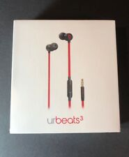 Official Beats by Dr Dre urBeats3 [ Defiant Red Black W/ 3.5mm Plug ] NEW