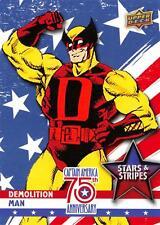 Captain America 75th Anniversary STARS & STRIPES Insert SS-22 / DEMOLITION MAN
