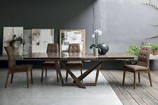 Tavolo design allungabile Gres Porcellanato Vetro Temperato PRIAMO 180cm
