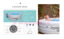 LAY Z SPA VEGAS AIRJET INFLATABLE HOT TUB JACUZZI 4-6 PERSON 2018 MODEL BESTWAY