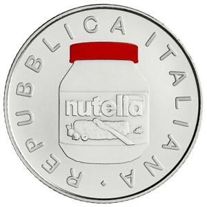 Italien - 5 Euro 2021 - Nutella - Rot - 18 gr Silber ST - in Farbe