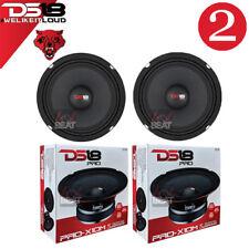 """Ds18 Pro-X10M 600W Max 10"""" Midrange Speakers Loudspeaker 8 Ohm Pair, 2 pack"""