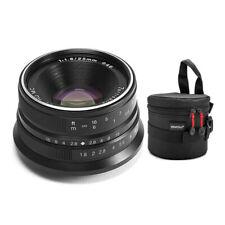 7artisans 25mm f/1.8 Manual Focus Prime Lens for Fujifilm X-Mount (Black) Bundle