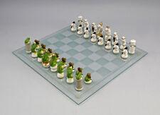 Ens Porzellan Figur Schachspiel Mäuse weiß vs Frösche grün H4-6,5cm 9941261#