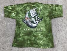 Rana Tropic Green Tie Dye T Shirt sz XXL Get A Grip Protect Wildlife Costa Rica