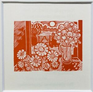 1991 JOHN O'CONNOR ORIGINAL WOOD ENGRAVING Window Flowers Ltd Ed. of 75
