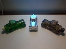 "Vintage Avon ""Sterling Six"" 7 Fl Oz 1930's Sedan Glass Aftershave Decanter's (3)"