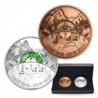 2018 RCM CNIB Proof $30 Silver Coin and Bronze Medallion set