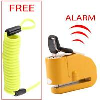 Heavy Duty Security Bike Motorcycle Motorbike Disc Lock + Reminder Cable 1.5M
