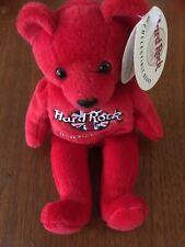 Hard Rock Cafe NEWPORT BEACH Collectible Red Rita Beara Beanie Bear & Tags