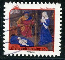 TIMBRE FRANCE AUTOADHESIF OBLITERE N° 626 / ART / NATIVITE / JEAN FOUQUET