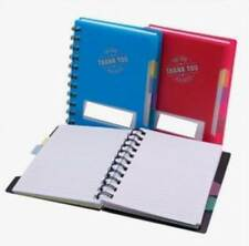 """Lot of 24 Pieces - """"Thank You For Your Business"""" Notebook with Colored Dividers"""
