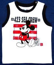 NEU! Disney Mickey Mouse Muskelshirt Tanktop T-Shirt Shirt Baumwolle 92