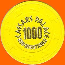 CAESARS PALACE $1000 1980s NO CASH VALUE NCV CASINO CHIP LAS VEGAS FREE SHIPPING