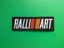 MOTOR RACING OILS, FUELS & TYRES SEW ON / IRON ON PATCH:- RALLIART (a) BLACK