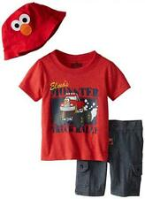 Sesame Street Boys' 3 Piece Monster Truck Hat Pullover and Short Size 4t