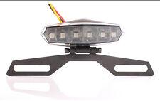 Motorcycle 6 LED License Plate Holder Tail Brake Bracket Mount Light Lamp New