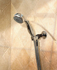 New! DELTA 7-Spray Handheld CHROME Showerhead Hand Shower 6' Flexible Hose 75701