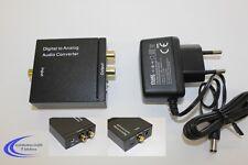 Dynavox Mini DAC Digital Analog Wandler D/A Wandler mit Cinch Klinge Coax SPDIF