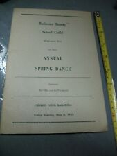 ROCHESTER BEAUTY SCHOOL  GUIDE ANNUAL SPRING  DANCE 1955  WOW  EXCELLENT