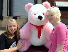 American Made Giant Stuffed Pink Panda Soft Jumbo Teddy Bear Made in USA New