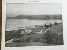 More details for antique 1903 st brelades bay & church jersey channel islands photograph print