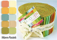 Moda Fabric Bella Solids Jelly Roll Warm - Patchwork Quilting 2.5 Inch Strips