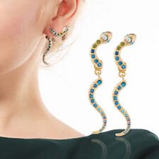 Rhinestone Snake Dangle Ear drop Earrings Ear Studs EARRING EAR CUFF CLIP WRAP