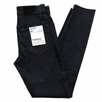 New JOE'S Jeans Women's 24 Charlie High Rise Skinny Ankle Raw Hem Maribel Blue