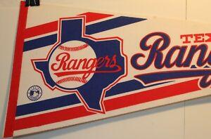 "1980's Texas Rangers 30"" Pennant Full Size MLB New"