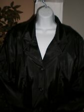 NWT W/DEFECTS LEARSI BLACK PERFORMANCE QUILTED RAINCOAT /  JACKET SZ:L