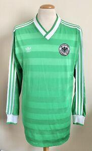 VINTAGE WEST GERMANY 1984 ADIDAS LONG SLEEVE SHIRT LARGE No.3 TRIKOT