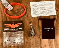 GUARDIAN BELL LADY SKULL W// ENAMEL COMPLETE MOTORCYCLE KIT W// HANGER /& WRISTBAND