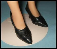 BLACK Embroidered High Heel Pumps Doll SHOES for Miss Revlon CISSY Dollikins