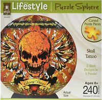 3D SPHERE PUZZLE - SKULL TATTOO - BRAND NEW - 31023