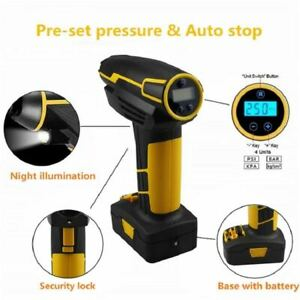 12V Cordless Rechargeable Tire Air Compressor Pump Digital Car Tyre Inflator