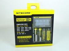 Nitecore Digicharger D4 EU Ladegerät für Li-Ion NiCd NiMH LiFeP04  Akkus
