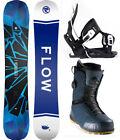 2021 FLOW Burst 159 Mens Snowboard+Flow Bindings+Nidecker Dual BOA Boots NEW