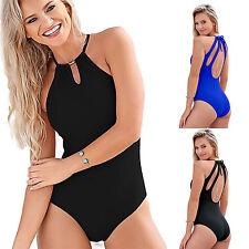 AU Women One Piece Bikini Monokini Swimsuit Bandage Swimwear Beach Bathing Suit