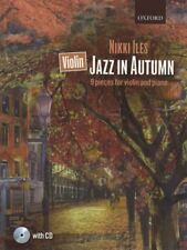 Jazz in Autumn for Violin and Piano Sheet Music Book with CD by Nikki Iles