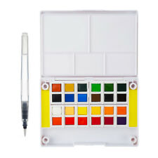 Watercolor Pigment Paint Set 24 Colors with Separate Palette Painting Brush