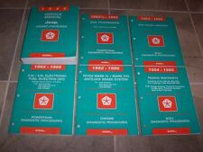 1995 Jeep Grand Cherokee Shop Service Repair Manual Set Limited SE 4.0L 5.2L 4WD