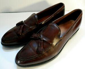 "Allen Edmonds ""Grayson"" Cordovan Tassel Loafers Mens 10.5 C"