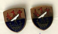 HIGHLAND SCOTLAND CLAN MCPHERSON SHIELD EMBLEM ENAMEL CUFFLINKS