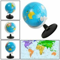 World Globe with Swivel Stand Geography Educational Atlas Map Teaching Aid