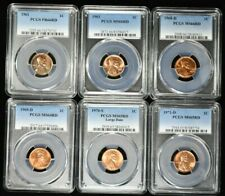 Lot of 6 Various PCGS Graded Red Wheat Cents 99c NO RESERVE  Witter Coin