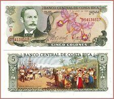 1986 COSTA RICA 5 COLONES  ~ UNC CONDITION {1 Pcs}