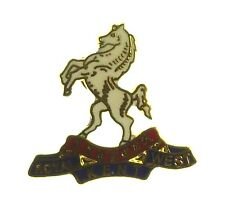 QUEENS OWN ROYAL WEST KENT REGIMENT HAND MADE PLATED IN UK LAPEL PIN BADGE