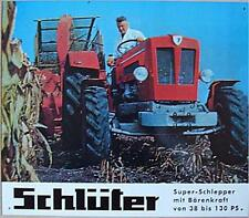 Älteres Blechschild Oldtimer Traktor Schlüter 38 Schlepper gebraucht used 4x da