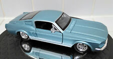 Maisto 1/24 Scale 1967 Ford Mustang GT Powder Blue VGC!